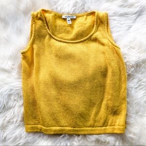 St. John Knitwear Camisole, canary yellow, 2